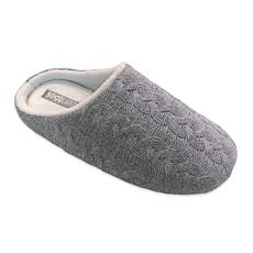 ZenToes Piper Cable Knit Fleece Lined Slippers