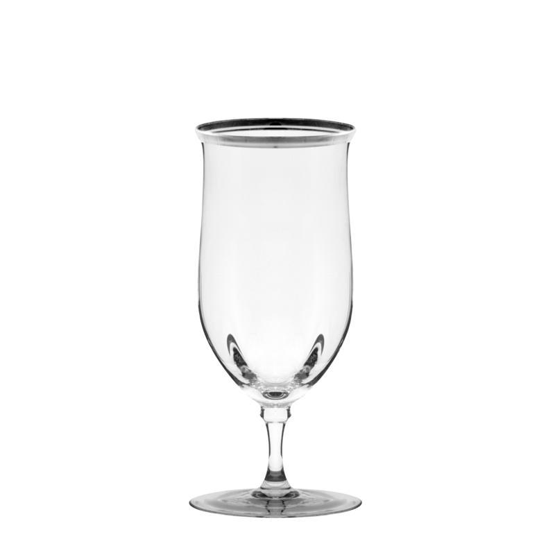 10 Strawberry St Set of 4 Windsor Water Goblet - Silver