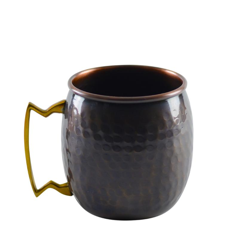 10 Strawberry Street Set of 2 Antique Copper Mugs