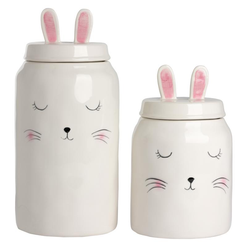 10 Strawberry Street Whimsical Rabbit Canister Set