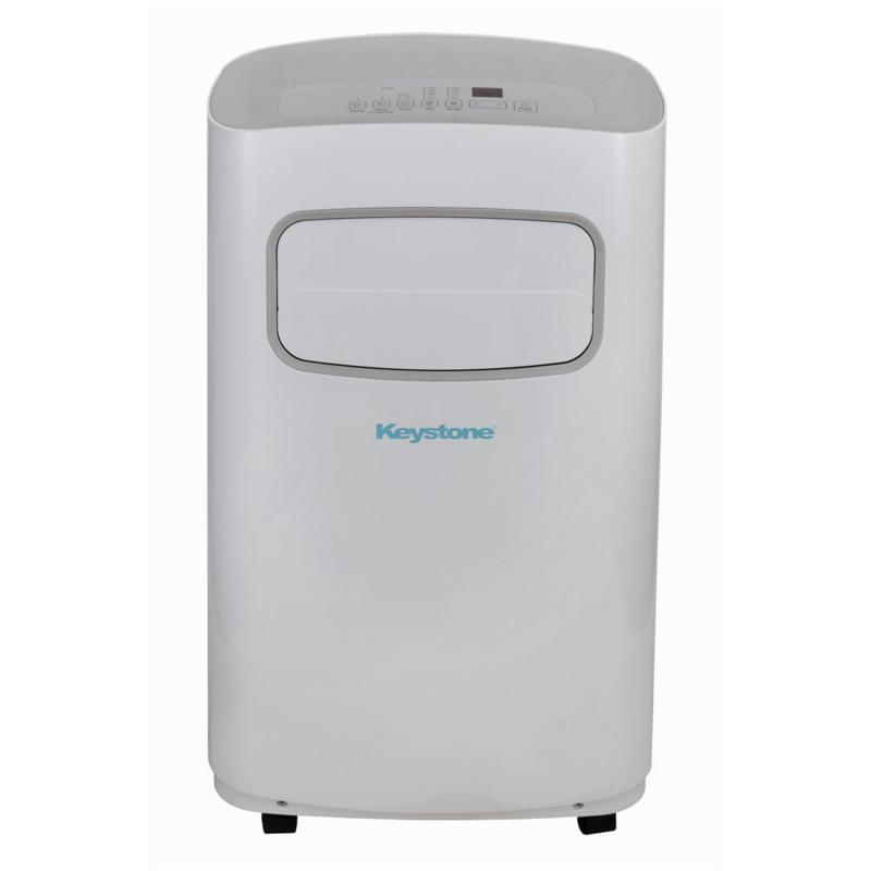 115V Portable Air Conditioner with Remote Control in White/Gray for...
