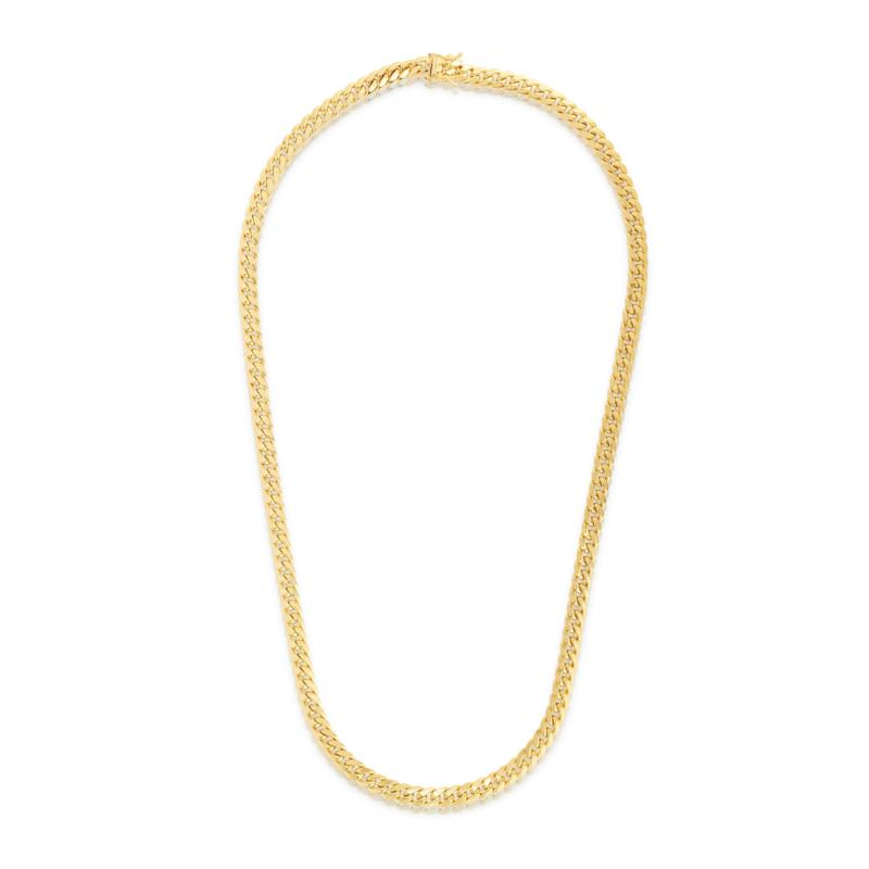 """14K 6.15mm Semi-Solid Miami Cuban Chain Necklace with Figure 8 - 22"""""""