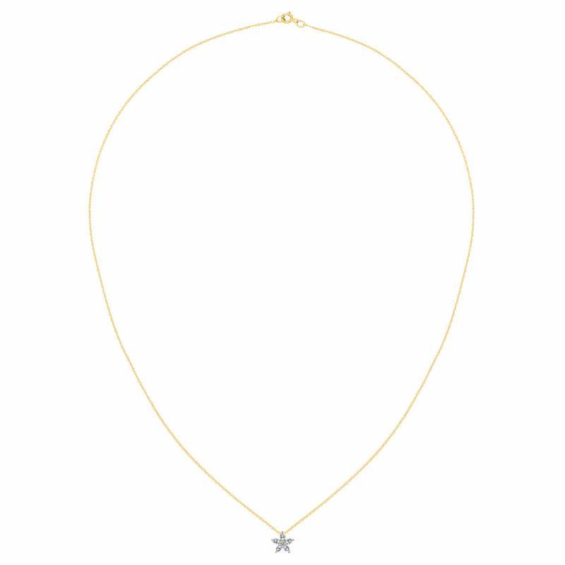 14K Gold 1.15ctw Moissanite Flower Pendant with Chain