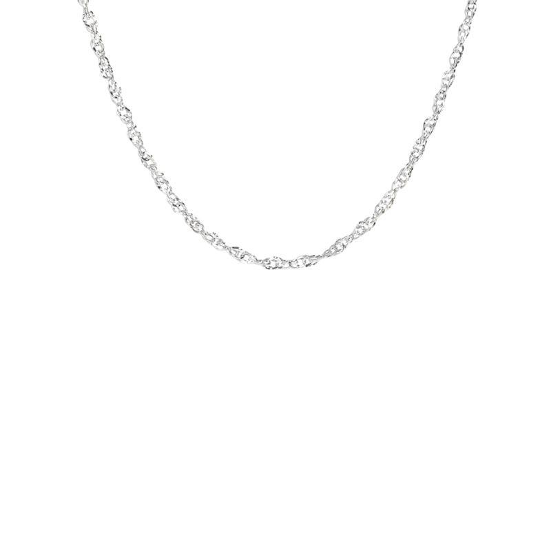 "14K Yellow Gold Diamond-Cut Singapore Chain Necklace - 16"""