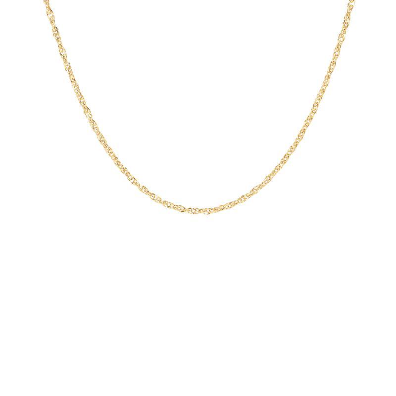 "15"" 14K Gold Polished Singapore Chain"
