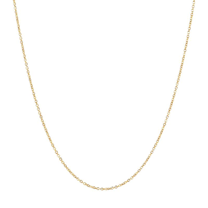 "16"" 14K Gold Oval Rolo Chain"