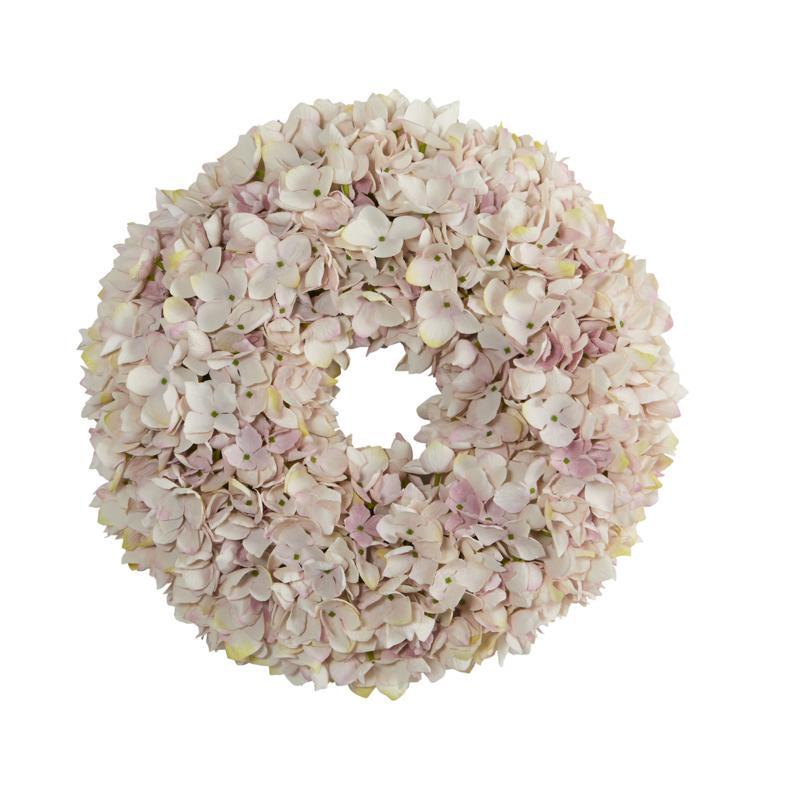 "16"" Hydrangea Artificial Wreath"