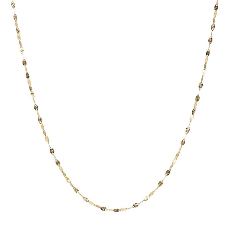 """18"""" 14K Gold Sunray Chain"""