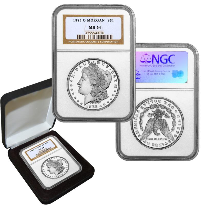 1885 MS64 NGC O-Mint Morgan Silver Dollar
