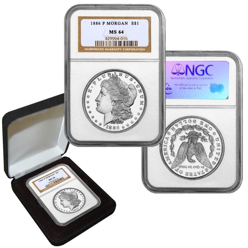 1886 MS64 NGC P-Mint Morgan Silver Dollar
