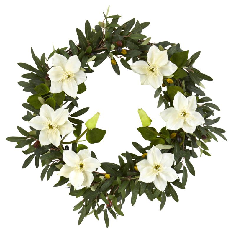 "20"" Olive & Anemone Artificial Wreath"