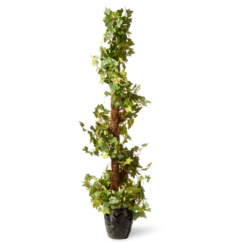 """48"""" Ivy Spiral Artificial Topiary"""
