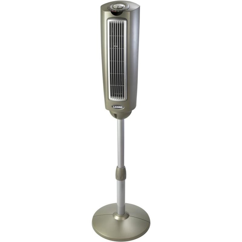 52 In. Space-Saving Oscillating Pedestal Tower Fan with Remote Control