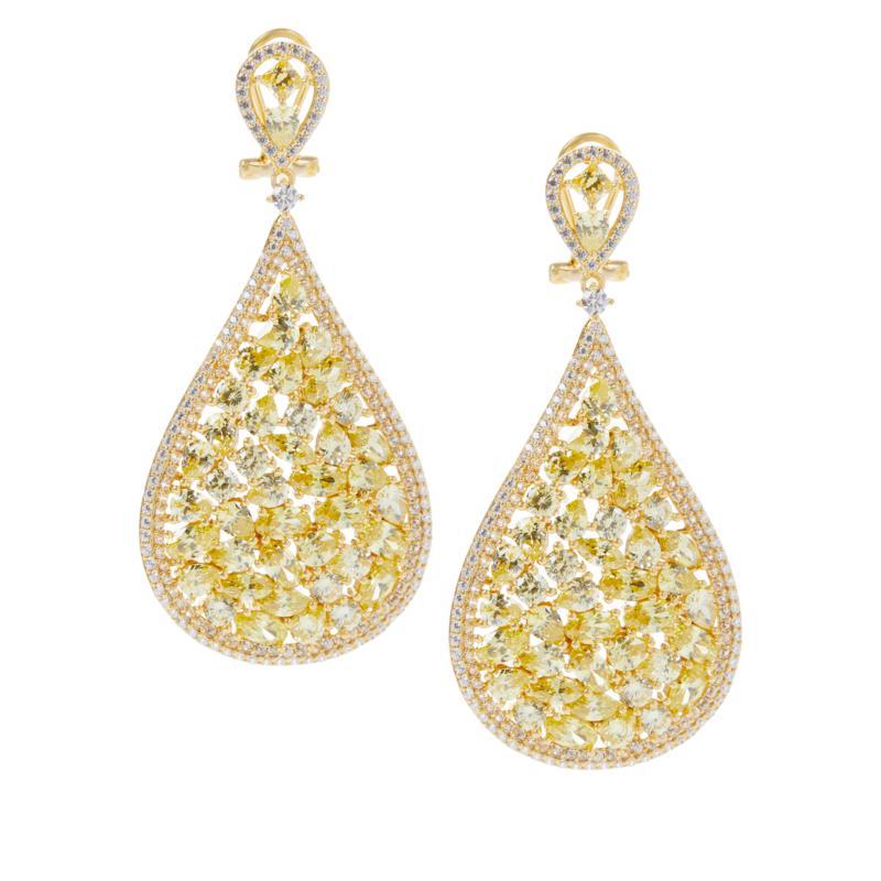 Absolute™ Gold-Plated Sterling Silver Multi-Cut Pear Drop Earrings