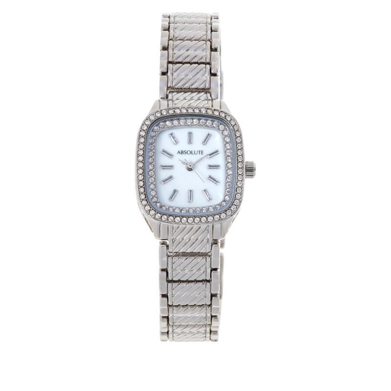 Absolute™ Women's Cubic Zirconia Pavé Cable Bracelet Watch