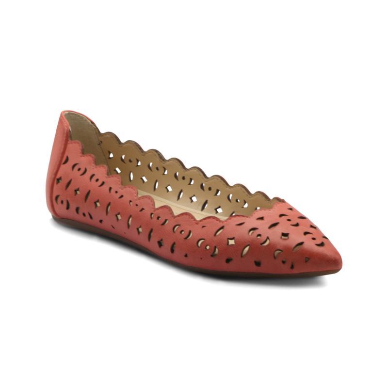 Adrienne Vittadini Forst Leather Slip On Flat