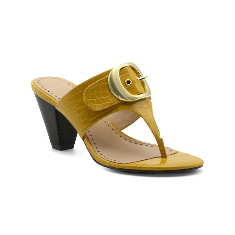 Adrienne Vittadini Polka Heeled Thong Sandal