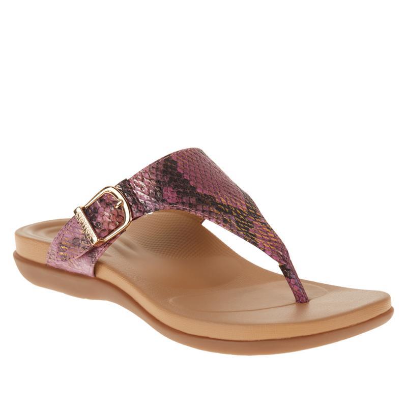 Aetrex® Rita Orthotic Snake-Print Thong Sandal