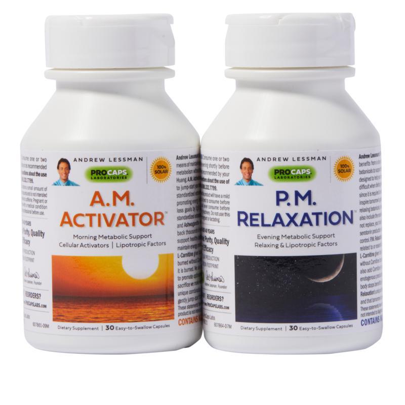 A.M. Activator & P.M. Relaxation 2-Bottle Bundle-30+30