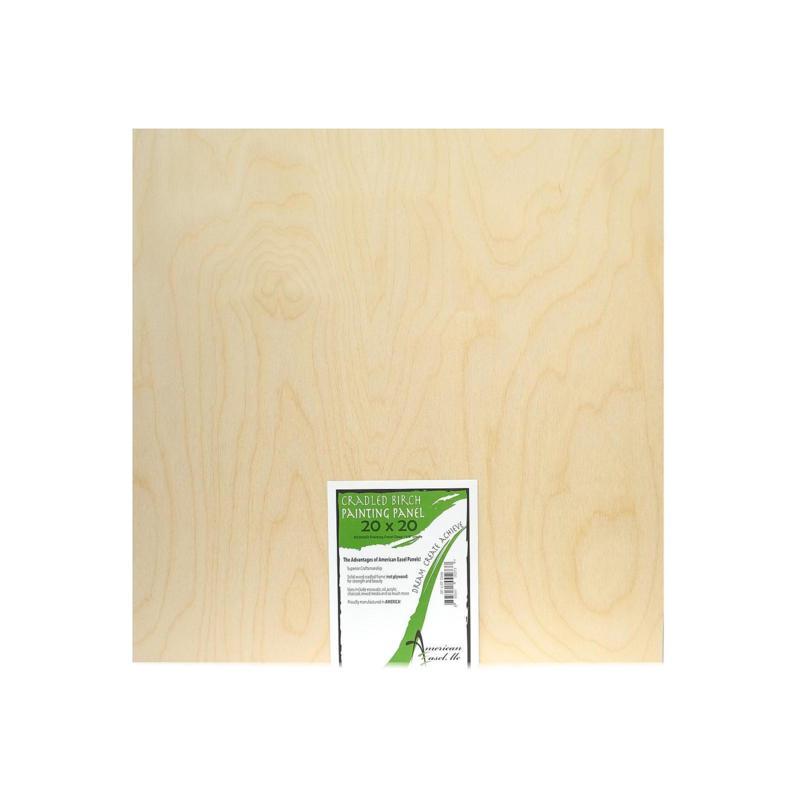 "American Easel 1 5/8"" Cradled Wood Painting Panels 20"" x 20"""