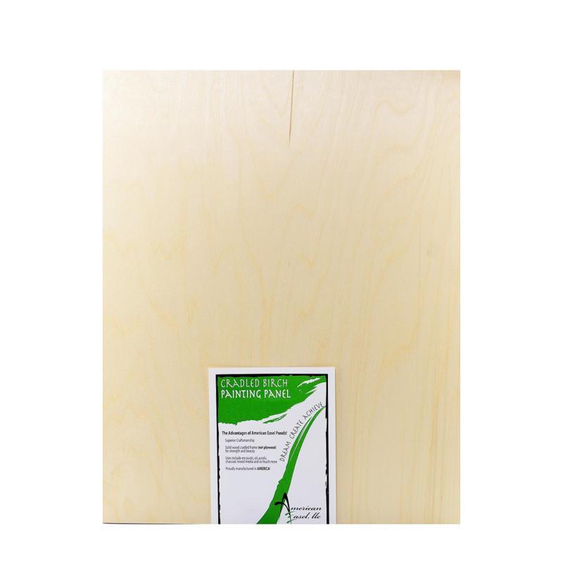 "American Easel 1 5/8"" Cradled Wood Painting Panels 24"" x 30"""