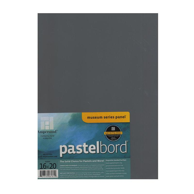 "AMPERSAND Pastelbord 16"" x 20"" Gray"