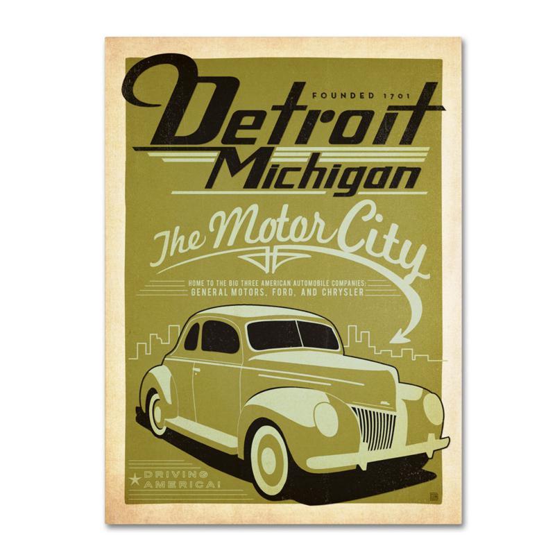 """Anderson Design Group """"Detroit"""" Canvas Art"""