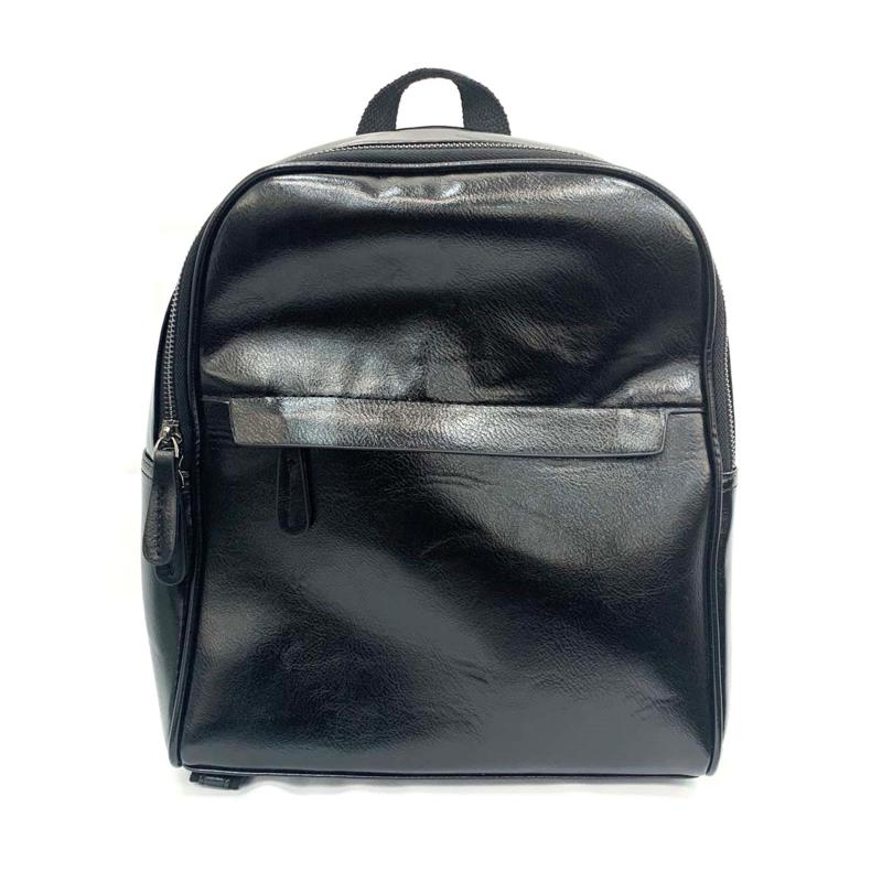 Anna Cai Faux Leather Zip Backpack