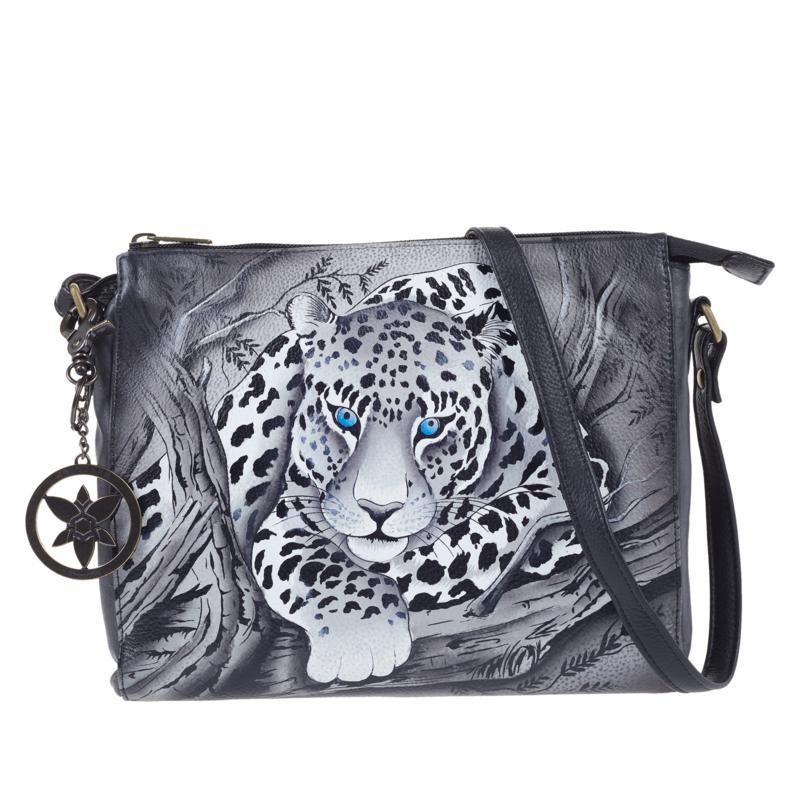 Anuschka Hand-Painted Leather Slim Crossbody Bag
