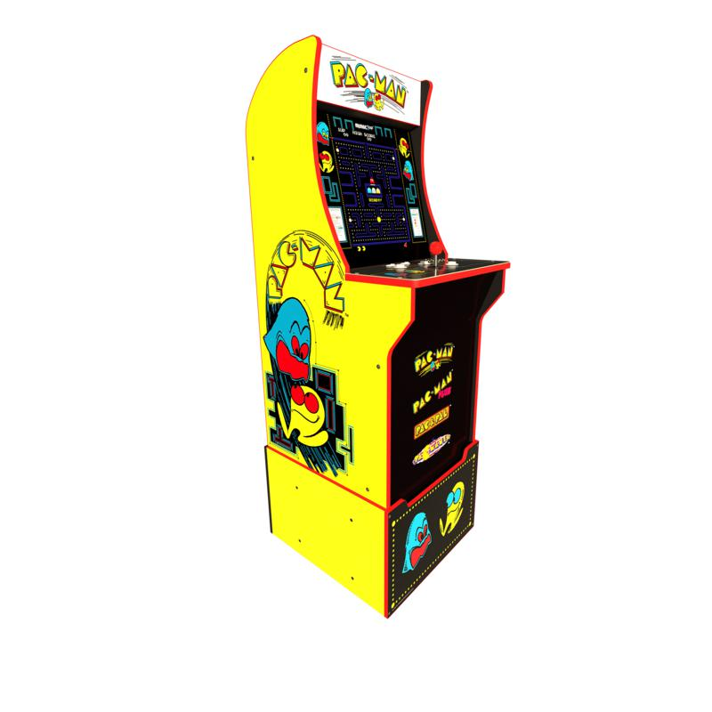 Arcade1Up PacMan Full-Size 5 ft. Arcade Machine and Riser with 4 Games