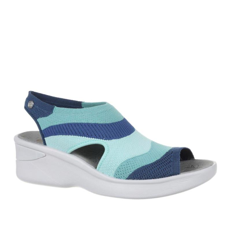 """""""As Is"""" Bzees Seabreeze Washable Knit Wedge Sandal"""
