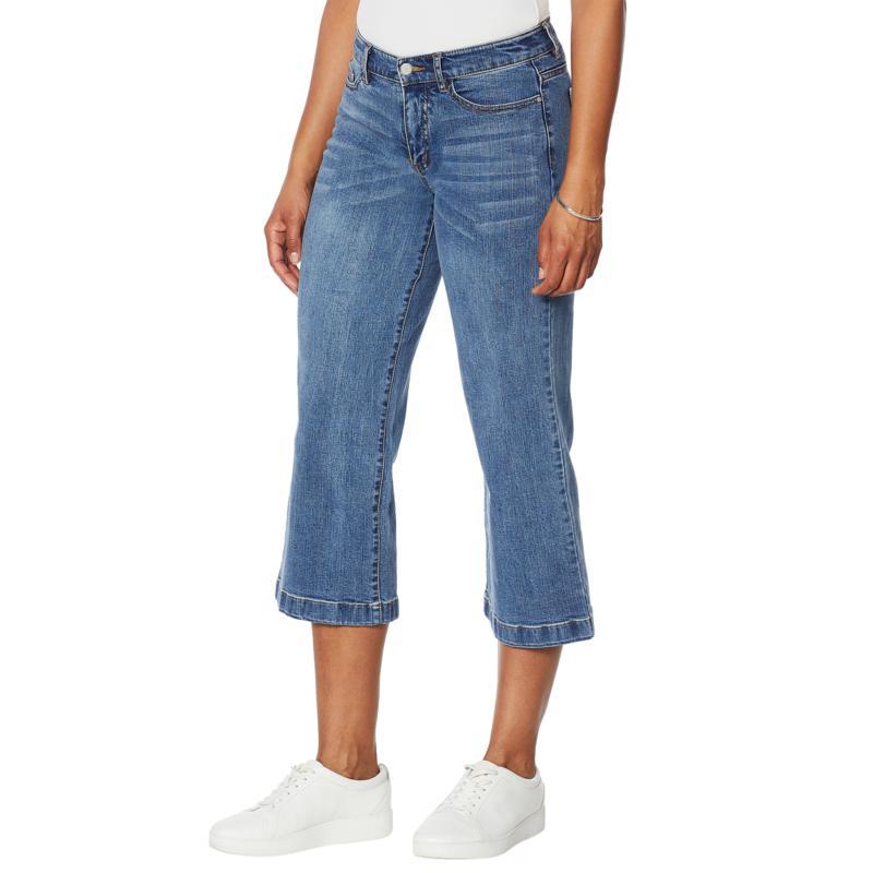 """""""As Is"""" G by Giuliana Wide-Leg Cropped Jean"""