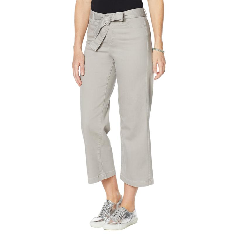 """""""As Is"""" G by Giuliana Wide-Leg Cropped Jean with Belt"""