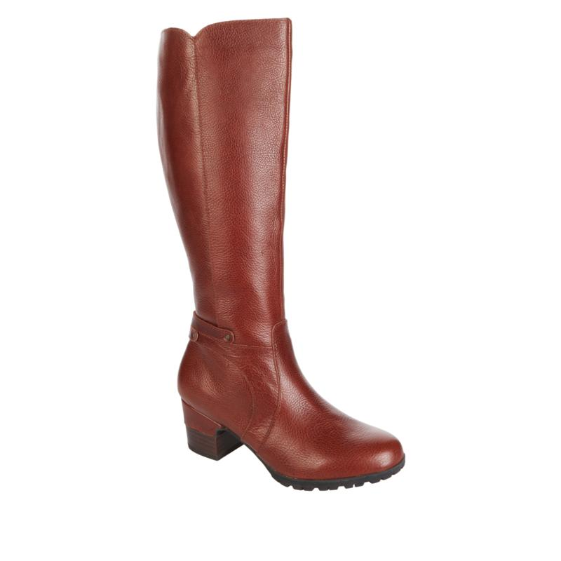 """""""As Is"""" JBU by Jambu Chai Tall Leather Riding Boot - Wide Calf"""