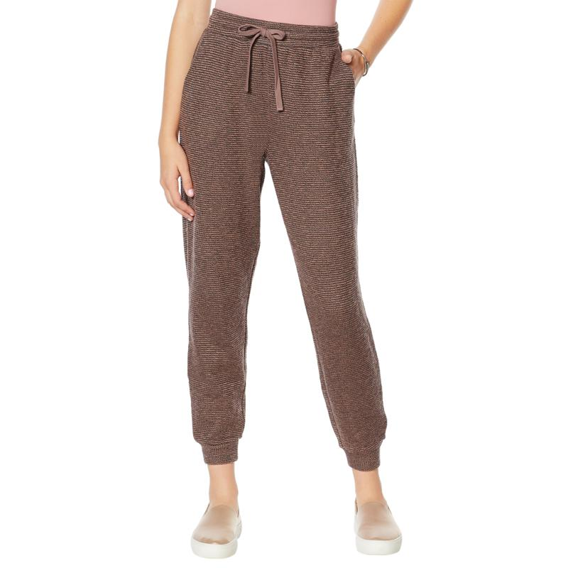 """""""As Is"""" ModernSoul® Textured Terry Drawstring Jogger Pant"""