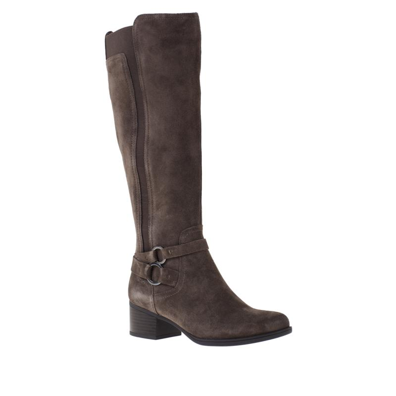"""As Is"" Naturalizer Kiana Leather or Suede Riding Boot"