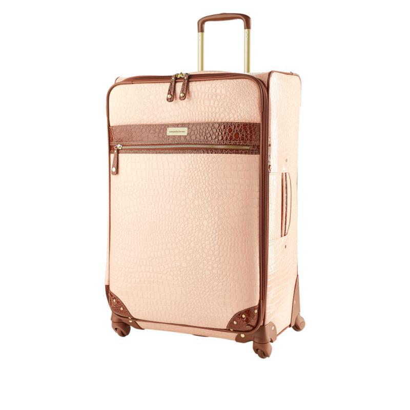 """As Is"" Samantha Brown 30"" Spinner Croco Embossed Suitcase"