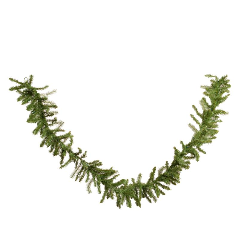 """""""As Is"""" Winter Lane 9' Indoor/Outdoor Garland with 50 LED Lights an..."""