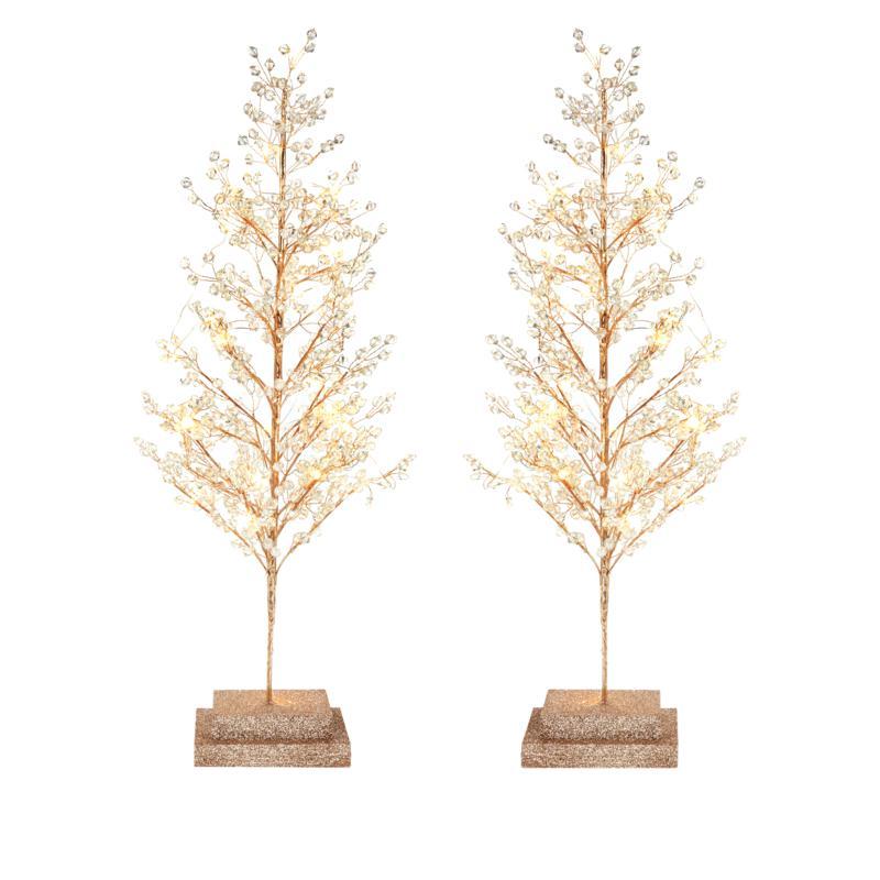 "august & leo 24"" Lighted Acrylic Trees Set of 2"