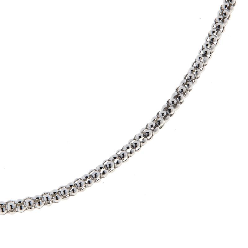"Bali RoManse 18"" Sterling Silver Popcorn Chain Necklace"