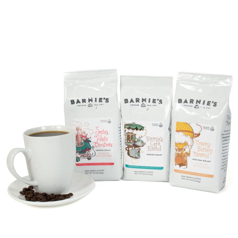 Barnie's Coffee Kitchen 3-pack of Ground Coffee Bags AS