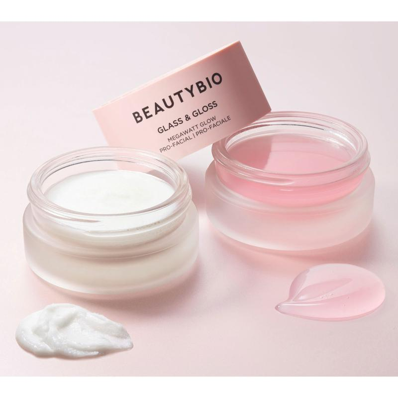 BeautyBio Glass & Gloss At-Home 2-Step Facial System with Headband