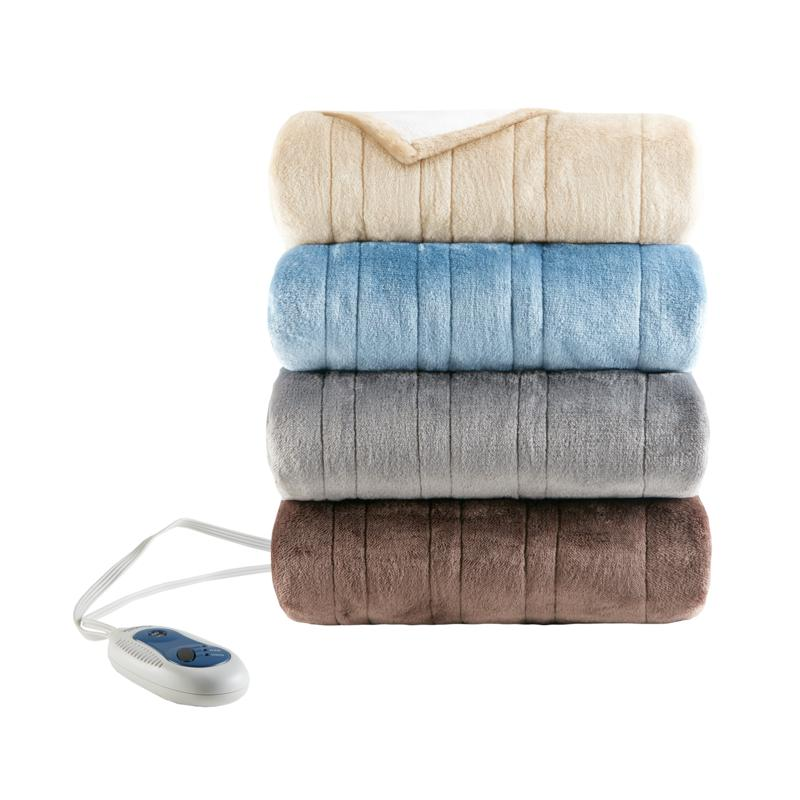 Beautyrest Heated Snuggle Plush to Berber  Wrap
