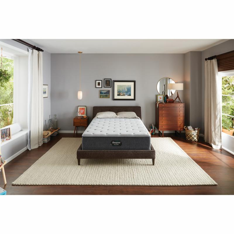 """Beautyrest Silver Plush  Twin Mattress with 5"""" Foundation"""