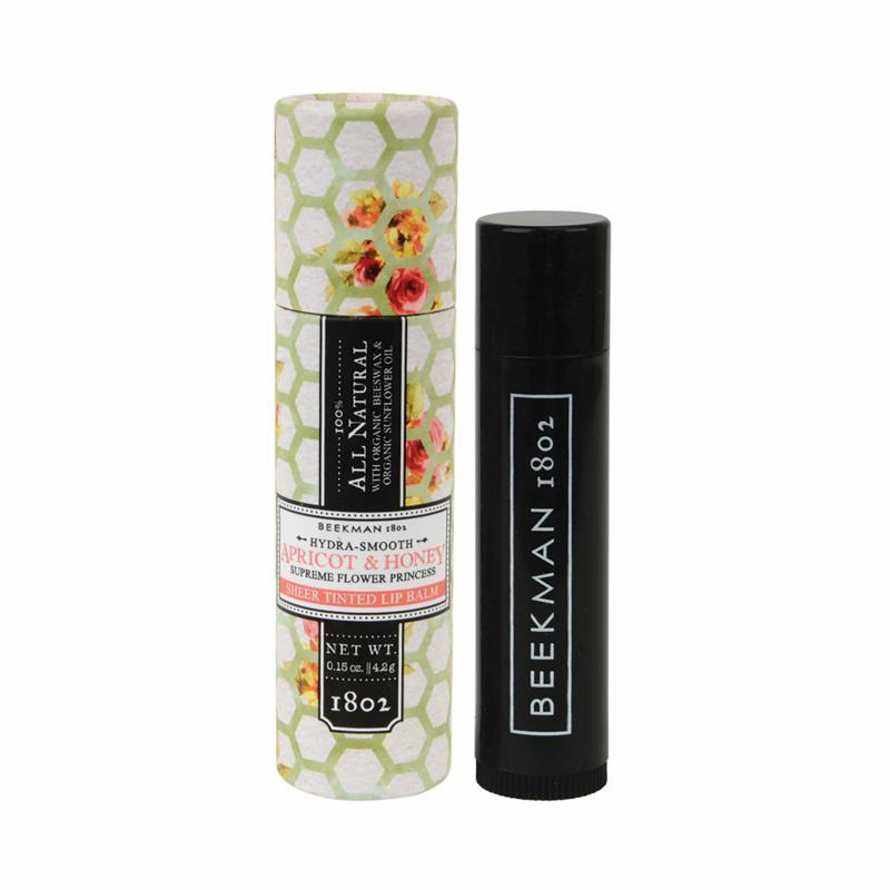 Beekman 1802 Apricot and Honey Tea Goat Milk Tinted Lip Balm