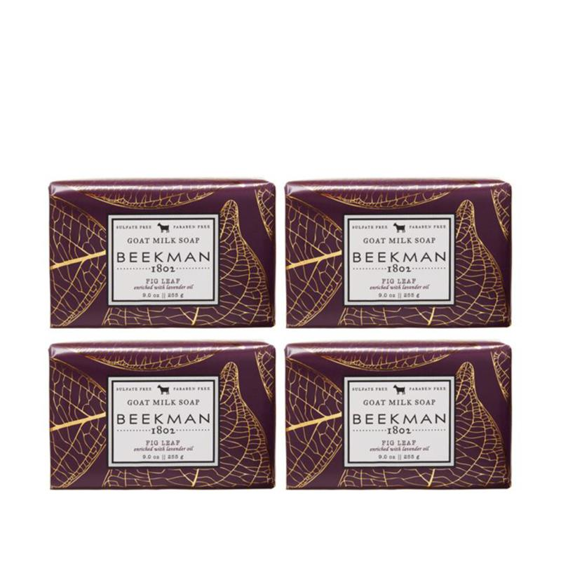 Beekman 1802 Fig Leaf Goat Milk Bar Soap 4-piece Set