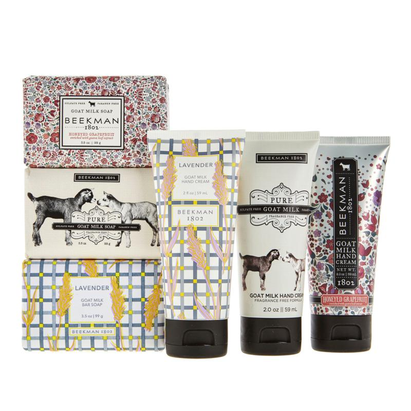 Beekman 1802 Goat Milk Assorted 6pc Bar Soap & Hand Cream Collection