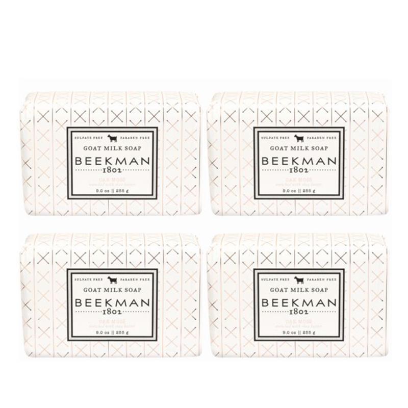 Beekman 1802 Oak Moss Goat Milk Bar Soap 4-piece Set