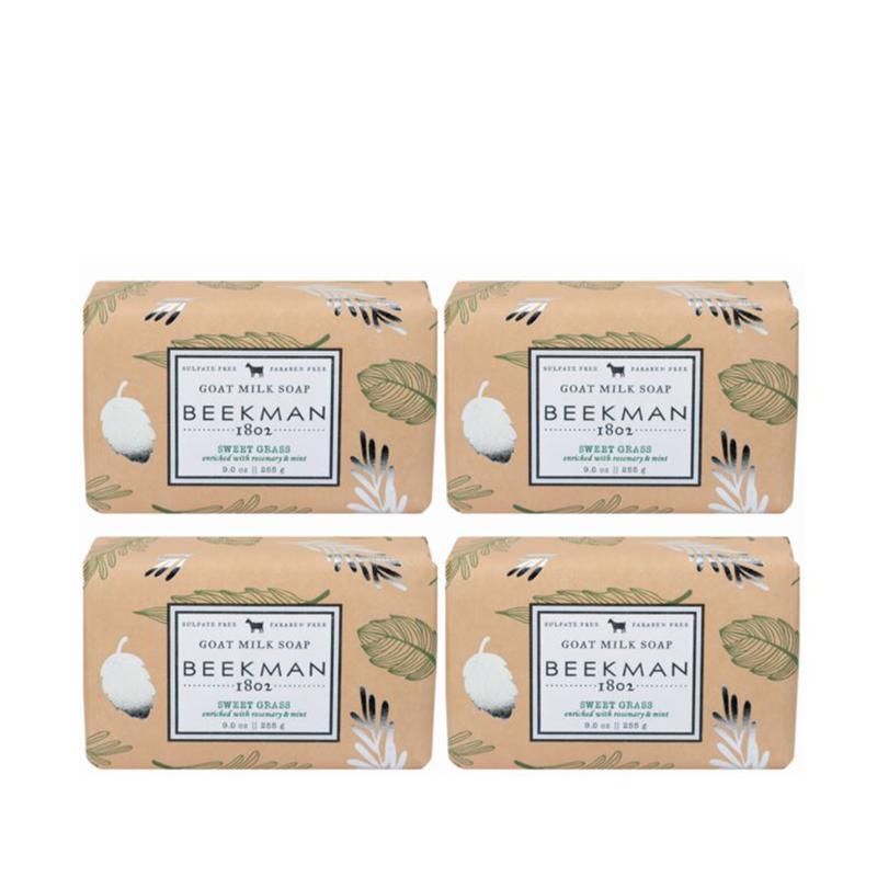 Beekman 1802 Sweet Grass Goat Milk Bar Soap 4-piece Set