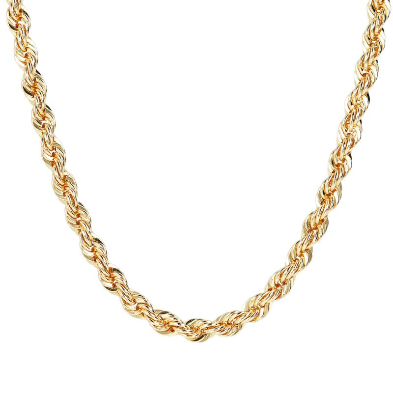 "Bellezza 20"" Bronze Diamond-Cut Rope Necklace"